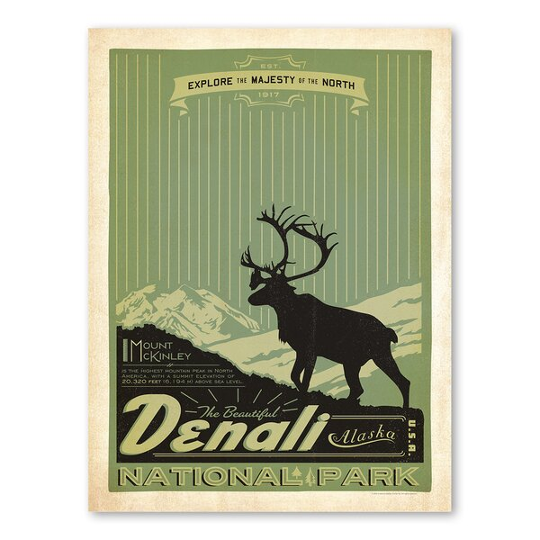 National Park Denali Vintage Advertisement by Americanflat