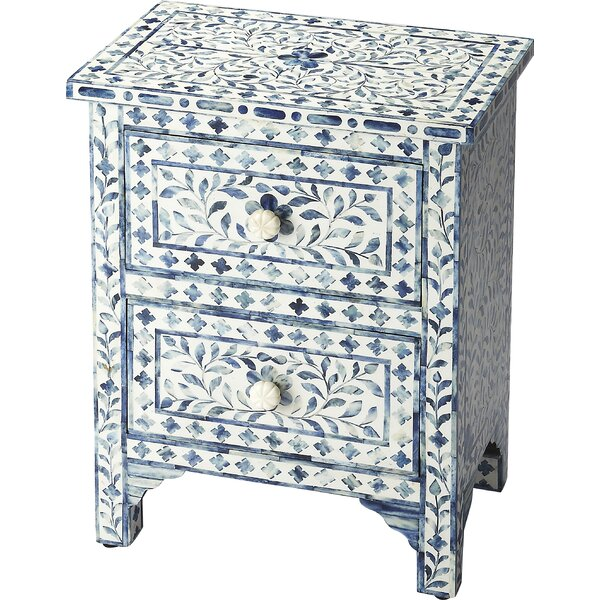 Denton 2 Drawer Accent Chest by Bungalow Rose Bungalow Rose