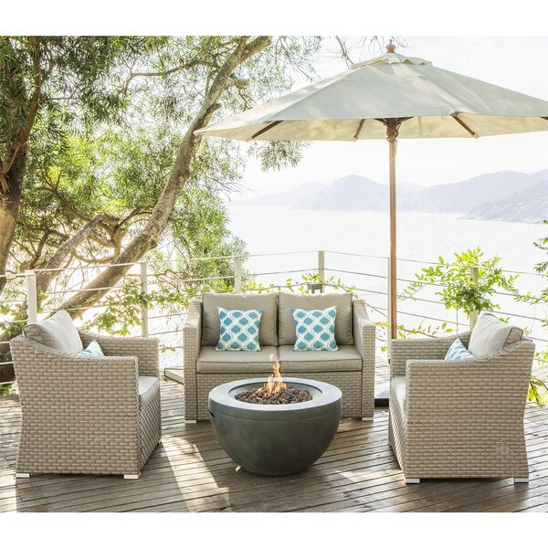 Aoife 6 Piece Rattan Complete Patio Set With Cushions By Longshore Tides