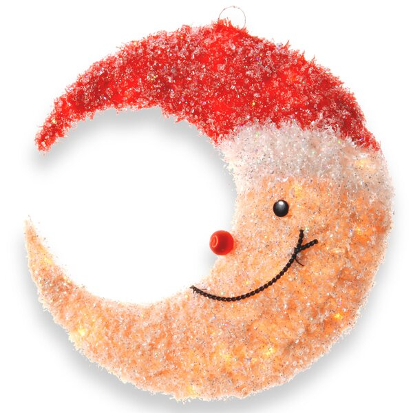 Decorative Décor Smiling Moon With Hat Christmas Decoration by The Holiday Aisle