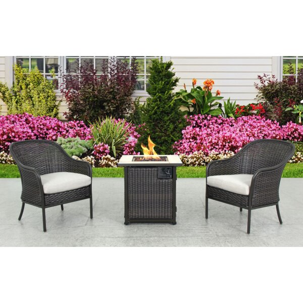 Enprise Fire Pit 3 Piece Bistro Set by Bayou Breeze