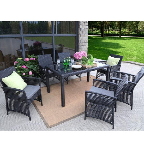 Riverdale Backyard 7 Piece Dining Set with Cushions by Ivy Bronx