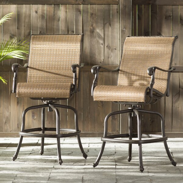 Germano Sling Patio Bar Stool (Set of 2) by Darby Home Co