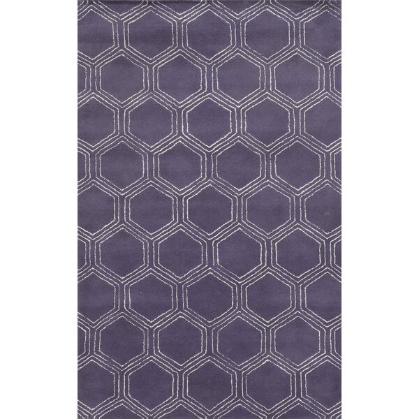 Tamaulipas Hand-Tufted Purple Area Rug by Meridian Rugmakers