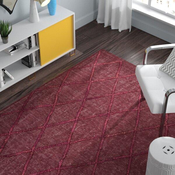Rachelle Hand-Woven Burgundy/Garnet Area Rug by Zipcode Design