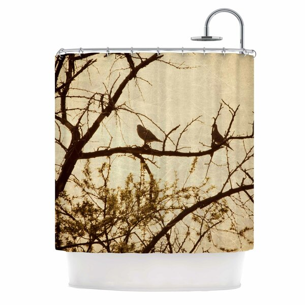 Golden Shower Curtain by East Urban Home