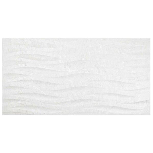 Palamu Deco 12.5 x 24.63 Porcelain Field Tile in Blanco by EliteTile
