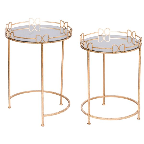 Michele Tray Top Frame End Table Set By Mercer41