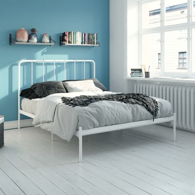 Mystic Platform Bed Hashtag Home Color: White, Size: Full