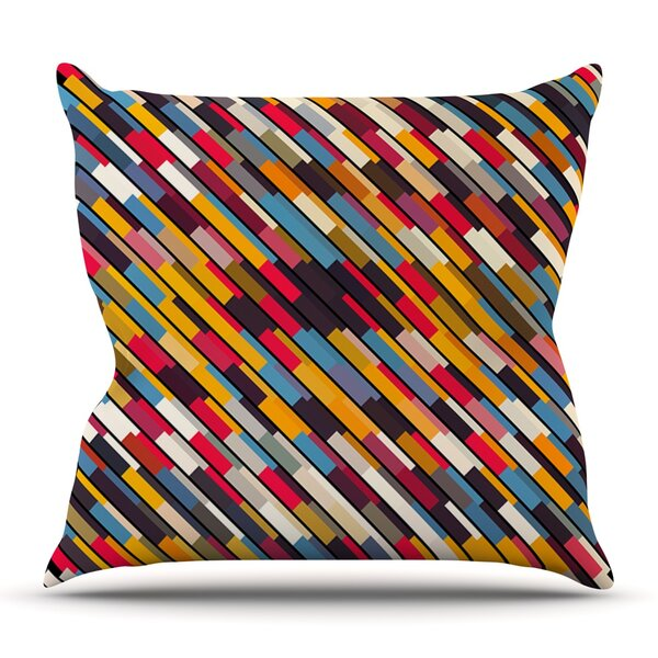 Texturize by Danny Ivan Outdoor Throw Pillow by East Urban Home
