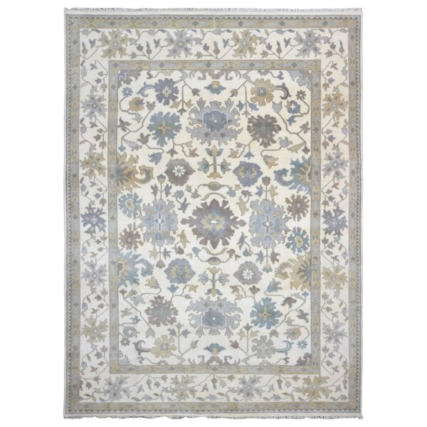 One-of-a-Kind Darianna Oushak Hand-Woven Wool Beige/Blue Area Rug by Darby Home Co