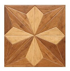 15.75 Engineered Bamboo Wood Parquet Hardwood Flooring in Victorian by Islander Flooring