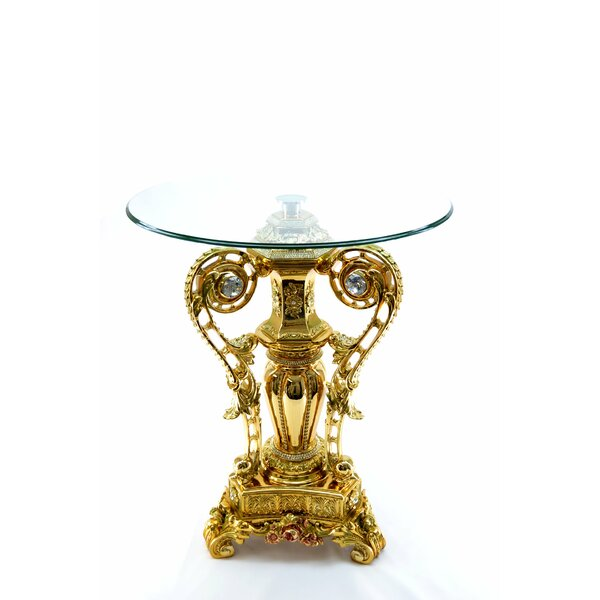Crystal Decoration End Table by Three Star Im/Ex Inc.