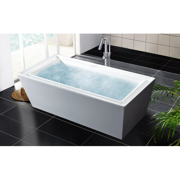 PureScape 70.75 x 33.5 Soaking Bathtub by Aquatica