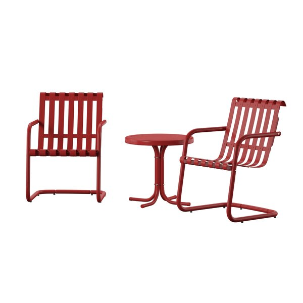 Erato 3 Piece Seating Group by Wrought Studio