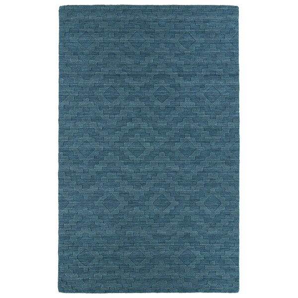 Dobson Tufted Turquoise Geometric Area Rug by Ebern Designs