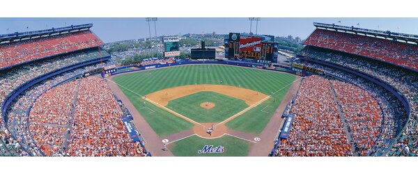 Aerial View I, Shea Stadium, Flushing, Queens, New York City, New York, USA Photographic Print on Wrapped Canvas by East Urban Home