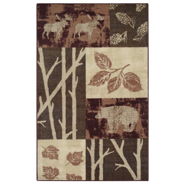 Rustic Nature Garnet Area Rug by Brumlow Mills