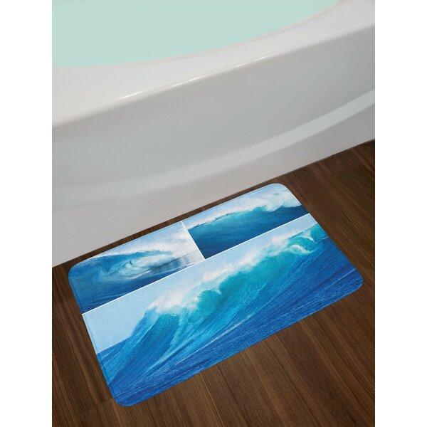 Blue Surf Bath Rug by East Urban Home
