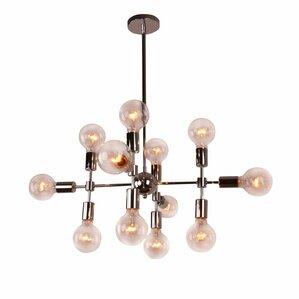 modern metal geometric 12light sputnik chandelier