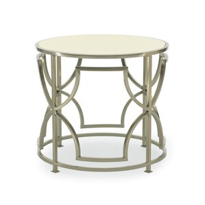 Haven Drum End Table by Bernhardt