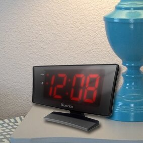 1.8 Curved LED Electric Alarm Clock by Westclox Clocks