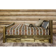 Abella Solid Wood Storage Platform Bed by Loon Peak