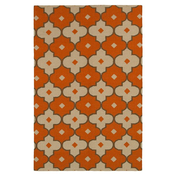 Hand-Woven Rust Area Rug by The Conestoga Trading Co.
