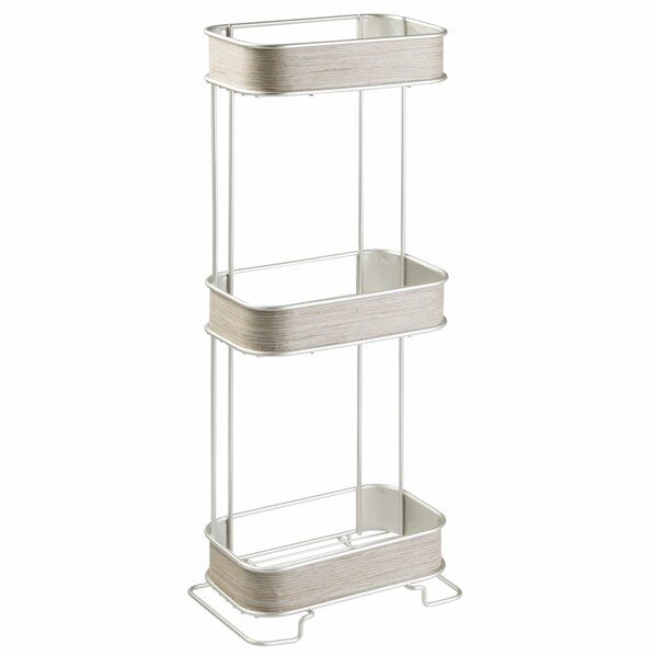 Realwood 3 Tier 6.4 W x 25.6 H Bathroom Shelf by I