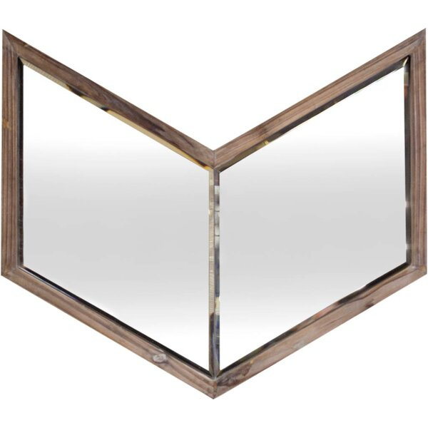 Light Walnut Wood Wall Mirror by Brayden Studio