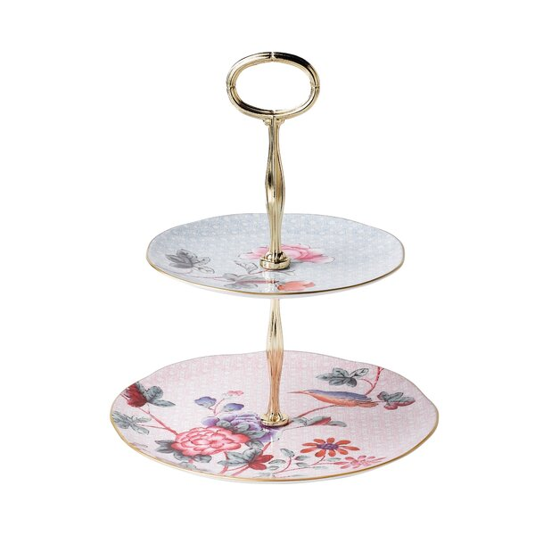 sc 1 st  Wayfair & 2 Tier Cake Stand | Wayfair