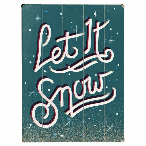 Let it Snow Textual Art Multi-Piece Image on Wood by Artehouse LLC