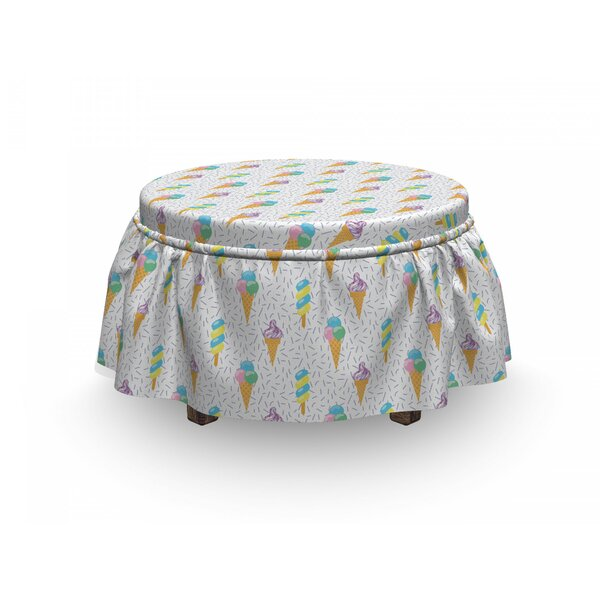 Summer Dairy Dessert Ottoman Slipcover (Set Of 2) By East Urban Home