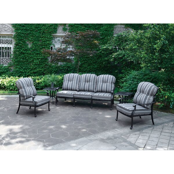 Montpelier Deep Seating Group with Cushions by Bay Isle Home