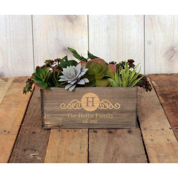 Mamounia Personalized Wood Planter Box by Winston Porter