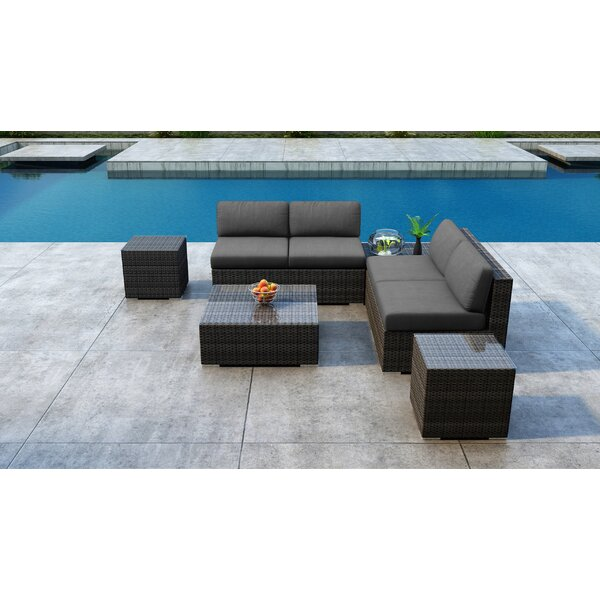 Gilleland 8 Piece Sectional Seating Group with Sunbrella Cushion by Orren Ellis