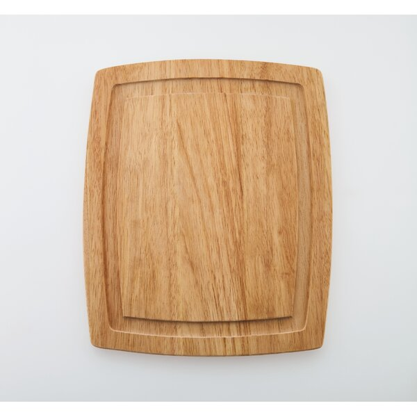 Classic Wood Cutting Board with Drip Groove Trench by Farberware
