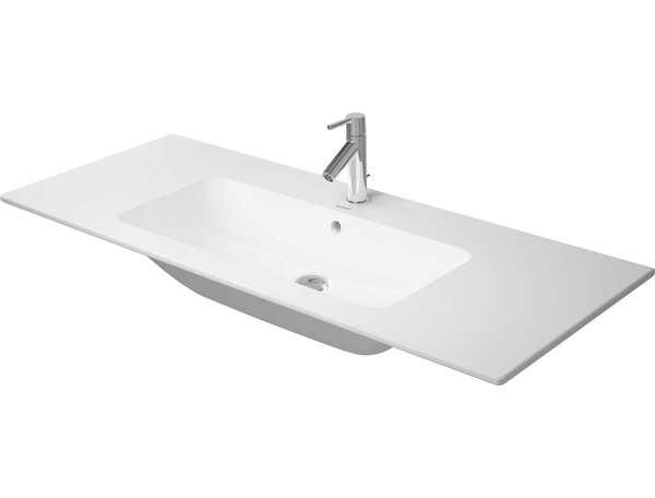 Me by Starck Ceramic Rectangular Vessel Bathroom Sink with Overflow by Duravit