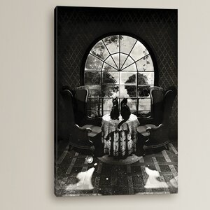 Room Skull by Ali Gulec Graphic Art on Wrapped Canvas by Charlton Home