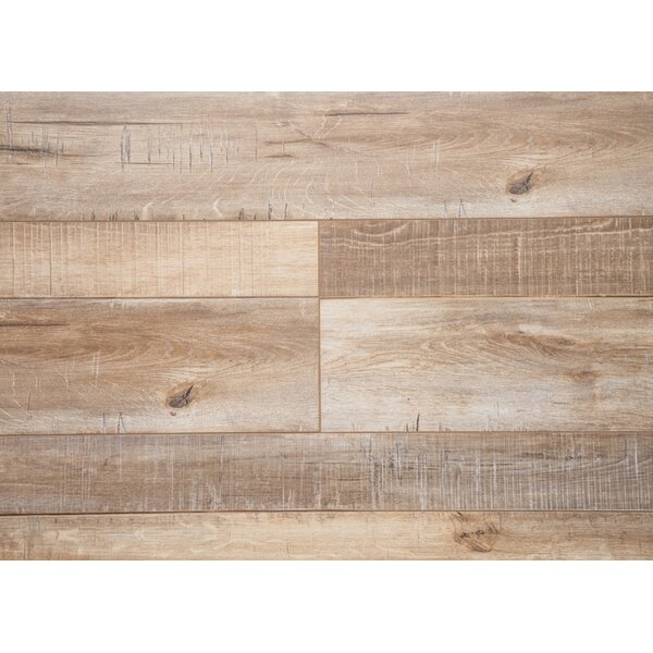 Country 7.5 x 72 x 12mm Oak Laminate Flooring in Walnut by Chic Rugz
