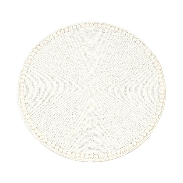 Goa Glass Beaded Placemat (Set of 4) by Saro