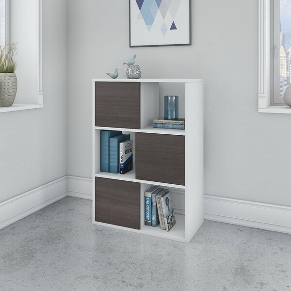 Jamestown Geometric Bookcase By Bush Business Furniture