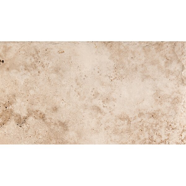 Natural Stone Chiseled 8 x 16 Travertine Field Tile in Vanilla Coffee by Emser Tile