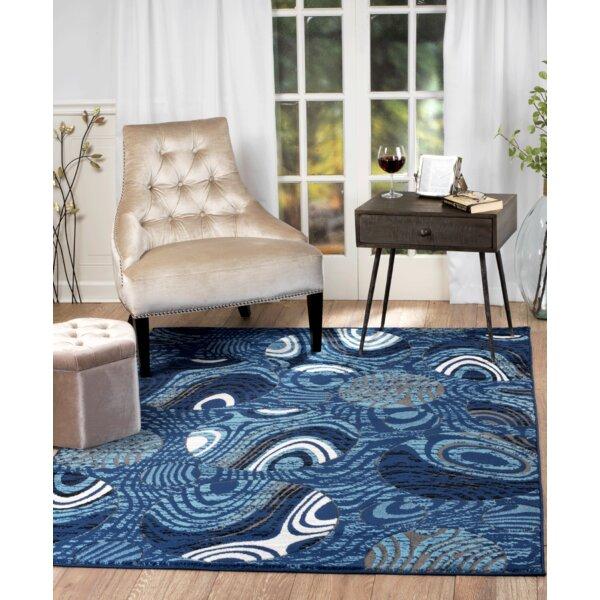 Stewartville Blue Area Rug by Ebern Designs