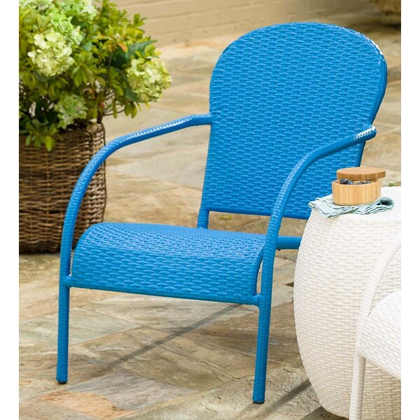 Stackable Wicker Patio Chair by Plow & Hearth