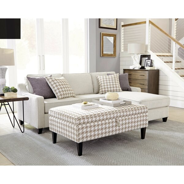 Shoping Tishie Reversible Sectional With Ottoman