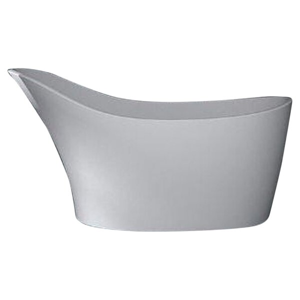 Noble 67.5 x 28.75 Artificial Stone Freestanding Bathtub by Spa Escapes