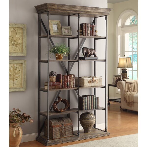 Mabie Medium Brown Etagere Bookcase by Trent Austin Design
