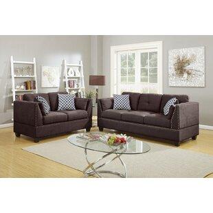 Dorice 2 Piece Velvet Living Room Set by Red Barrel Studio®