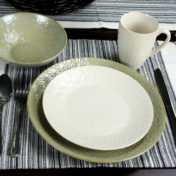Terrace Signature Texture 4 Piece Place Setting, Service for 1 by Elama